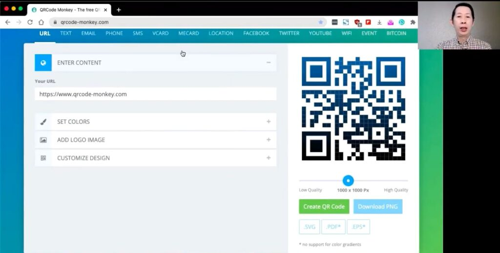 create a QR code for my business in Malaysia